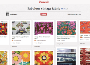 Fabulous Vintage Fabric by Modflowers