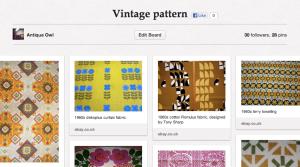 Vintage Pattern Pinterest Board