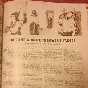 I become a knife-throwers target
