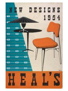 New designers 1954 at Heals