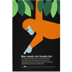 Tom Eckersley Rainforest poster
