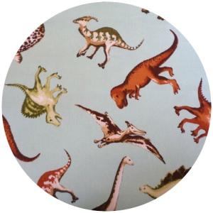 retro style dinosaur fabric