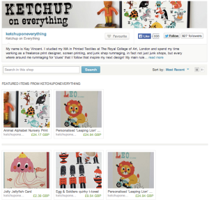 Ketchup on Everything Etsy Shop